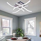 ALLOMN Plafonnier LED, Lampe de Lustre Plafonnier Design Moderne Courbé...