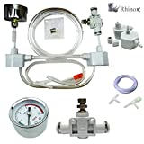 Rhinox DIY Pressurized CO2 System, CO2 Generator Kit, Includes Caps, Valves, 3-Way Connector, Tubing and Pressure Gauge, Creates a Healthy Underwater Habitat for Aquatic Pets and Plant