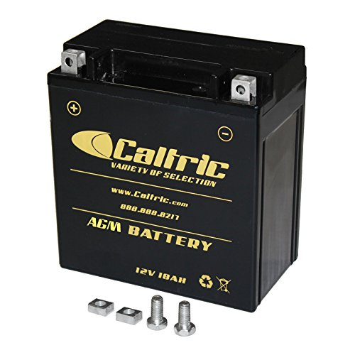 Caltric compatible with Agm Battery Kawasaki Vn1500 Vn-1500 Vulcan 1500 Nomad Fi 1999-2004