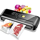 MegaWise Vacuum Sealer Machine | 80kPa Suction Power| Bags and Cutter Included | Compact One-Touch...