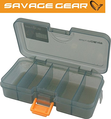 Savage Gear Lure Box 16,1 x 9,1 x 3,1 cm, scatola per esche artificiali in gomma, wobbler, esche da pesca