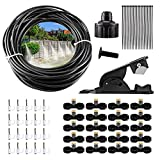HUGYU Misting Cooling System 65.6FT (20M) Misting Line for Outdoor Misting Kit Cooling Line for Patio, Greenhouse, Lawn, Yard and Flowerbed Water Misting System
