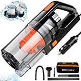 Car Vacuum, CHERYLON Portable Car Vacuum Cleaner High Power 150W/7500Pa for Car Interior Cleaning...