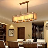 Chandelier Meter Rectangular Restaurant Antique Modern Minimalist Living Room Lamp Creative Iron Bar Lamps (Color: Black)