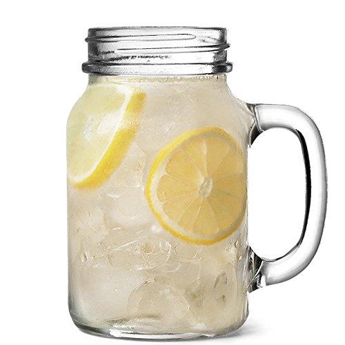 bar@drinkstuff Lotto di 4 barattoli di vetro in vetro 20 oz / 568 ml ml, ideale per cocktail,...