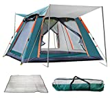 REAVEE Instant Pop Up Family Camping Tent for 4 Person, Automatic Portable Tent Waterproof Cabin Tent with Rainfly and Carry Bag for Camping Hiking Mountaineering