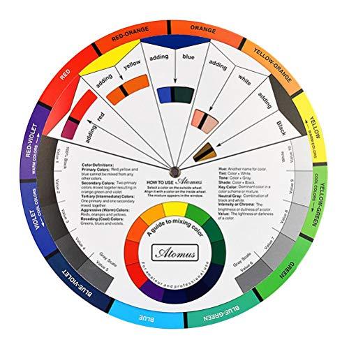 HEALIFTY - Ruota colorata tascabile per artisti, pigmenti, colori e colori
