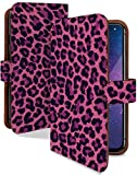 AQUOS sense3 SHV45/SH-02M/SH-M12 ケース 手帳型 携帯ケース ヒョウ柄 レオパード 紫 動物 ア……