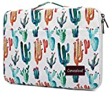 Canvaslove Cactus Pattern Conner Bottom Rebound Bubble Protection Waterproof Laptop Sleeve Case with Handle and Pockets for MacBook Pro Air 13 inch Surface Laptop Book 13.5 inch and 13.3 inch Laptop