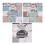 ewtshop® 3 blocs de 36 hojas cada uno, impresas por una cara, papel de diseño, papel para...
