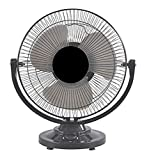 Enamic UK Happy Home || IS Laurels ||12 Inch Black table fan|| Copper winding ||1 year warranty limited addition|| Model- Black Beauty
