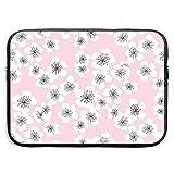 Sakura Blossom en Rosa pálido Bolsas para portátil compatibles con Tableta Netbook de 15 ″, maletín con Funda, Funda para Bolso