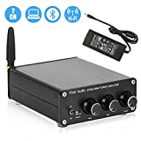 BT20A Bluetooth 4.2 Stereo Audio 2 Channel Amplifier Receiver Mini Hi-Fi Class D Integrated Amp 2.0CH for Home Speakers 100W x 2 with Bass and Treble Control TPA3116 (with Power Supply)