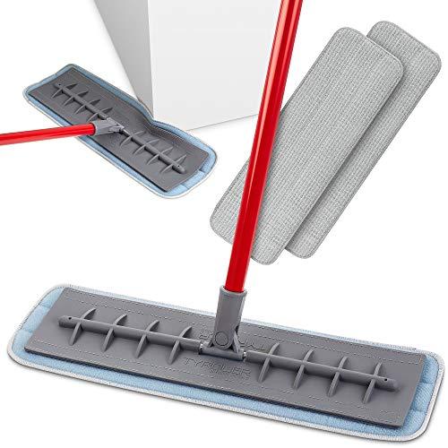 Tyroler Bright Tools Lavapavimenti con Panno In Microfibra Lavasciuga (L45) Testa in Silicone Flessibile - Uso Domestico e Professionale - Arriva negli Angoli - Per Parquet, Piastrelle, Bagno, Cucina