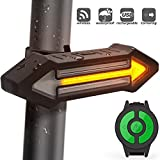 HAHAKEE-Clignotant pour Vélo Eclairage Vélo Etanche, Lumière Vélo Arrière 4 modes d'éclairage ,USB Rechargeable pour Cyclysme,Bicylette,Eclairage Velo