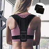 Fixget Unisex Adult Zexuan – Soporte recto para espalda hombro ajustable transpirable espalda...