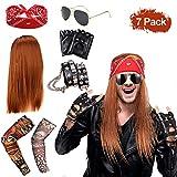 SPECOOL Costume Rocker Années 90 en Métal Lourd Punk Gothic Kit Années 70 Années 80 Années 90...