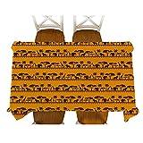 XXDD Decoración de Estilo Africano Dibujos Animados Animal Elefante Personaje máscara Mantel algodón Lino Mantel Mantel decoración Mantel A15 135x135cm