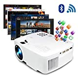 ERISAN Projector Video Home TV Theater, LED Android WiFi Bluetooth, 220 ANSI Lumen, Support 1080P Full HD, iOS Compatible, Updated Quieter Fan, Mini Smart Video Beam, Multimedia Party Games