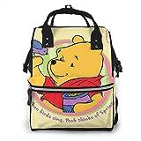 Winnie Pooh Spring - Mochila de viaje multifunción impermeable para maternidad y bebé