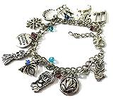 Anna Elsa Charm Bracelet - Frozen Anna Jewelry Gift Merchandise for Girls