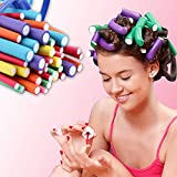 Sanas Hair Curling Flexi Rods 20 Pieces Magic Hair Foam Hair Rollers Soft Twist Hair Curler Rods for Your Hair Without Heat Hair Bendy Styling Curly Hairstyle Hair Sticks Hair Pin Combo Pack of 20 Pcs