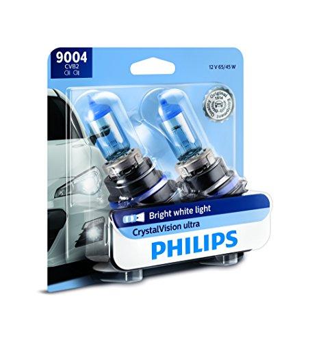 PHILIPS - 9004CVB2 Philips 9004 CrystalVision Ultra Upgrade Bright White Headlight Bulb, 2 Pack