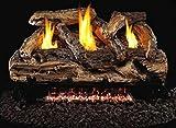 Peterson Real Fyre 24-inch Split Oak Log Set With Vent-free Natural Gas Ansi Certified G9 Burner - Manual Safety Pilot