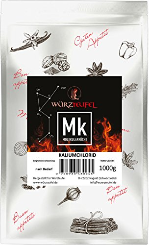 Kaliumchlorid, Kaliumsalz in Lebensmittelqualität, Diät - Salzersatz, KCL, E508. Beutel 1000g. (1KG)