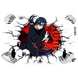 Anime Cartoon Manga Comics Naruto Akatsuki Ninja Uchiha Itachi Ninjutsu Combat Sticker...