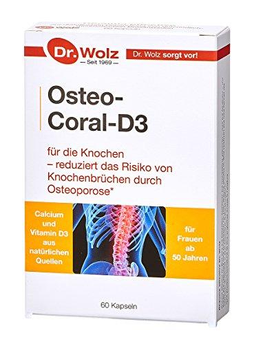 Osteo-Coral D3 Dr. Wolz  mit K2, natürlichem Calcium und weiteren Vitaminen und Spurenelementen   60 Kapseln