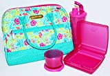 Tupperware Women's Lunch Set of 4 with Insulated Bag Tropical Glamour Pink