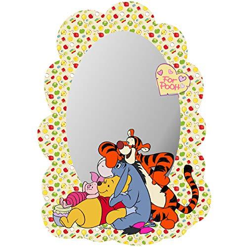 alles-meine.de GmbH Kinder Wandspiegel - Acryl Spiegel - bruchsicher unzerbrechlich - Disney - Winnie Pooh - selbstklebend & wiederverwendbar - Plexiglas - 22 cm - Wandsticker / ..