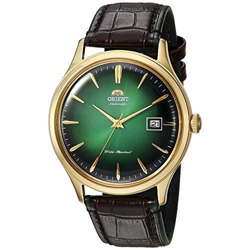 Orient Unisex Erwachsene Analog Automatik Uhr mit Leder Armband FAC08002F0