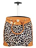 Trendy Flyer 19' Computer/Laptop Rolling Bag 2 Wheel Case (Large Leopard)