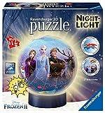 Ravensburger 3D Puzzle 11141 - Nachtlicht Puzzle-Ball Disney Frozen 2 - 72 Teile - ab 6 Jahren, LED Nachttischlampe mit Klatsch-Mechanismus