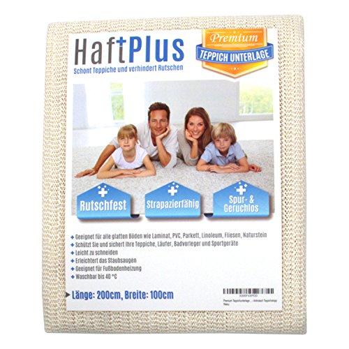 HaftPlus - Teppichunterlage, Antirutschmatte - Haftet ohne zu kleben, rutschfest und zuschneidbar, Größe 120 x 180 cm