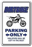 Dirtbike Parking Sign BMX Racing Cycle Bike Racing | Indoor/Outdoor | 14' Tall