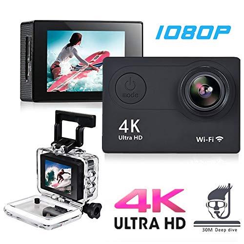 Action Camera Cam HD 4K WiFi 12 MP 2inch 1080p / 60fps Casco Impermeabile Subacqueo Registrazione Videoregistratore DV Videocamera Sportiva con Telecomando