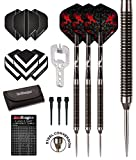RED DRAGON Double Agent 20g Tungsten Darts Set mit 2D Drache Flights und Schäfte
