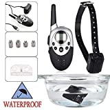 Destinie 1000 Yard Rechargeable Waterproof LCD Shock Vibra Remote Pet Dog Training Collar