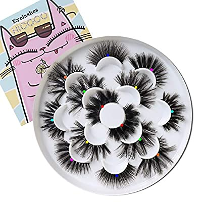 23-25mm long thick volume dramatic faux mink eyelashes 3D 4D 5D 6D effect is more obvious;handmade;cruelty free Made of high-grade protein silk soft and weightless;close to 0-touch More comfortable Thinner eyeliner 7 styles strip faux mink lashes ; n...
