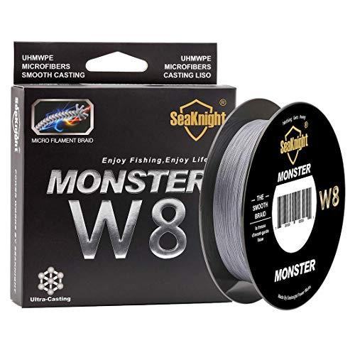 SeaKnight Monster W8 Filo da Pesca trecciato 8 Fili 300m/500m, Filo Super Liscio in PE multifilamento trecciato, per Pesca in Mare 15  45 kg