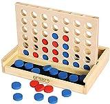 TOWO Puissance 4 en bois- Jeu de stratégie classique pour adultes et...
