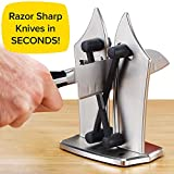 Official As Seen On TV Bavarian Edge Kitchen Knife Sharpener by BulbHead, Sharpens, Hones, & Polishes Serrated, Beveled, Standard Blades