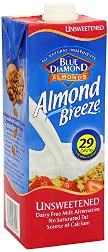 Blue Diamond Almond Breeze Amandeldrank zonder suiker | 100% plantaardig, vrij vna gluten, lactose en suiker | Bron van calcium, potasium, vitamine A, B, D en E | Geschikt voor diabetici, veganisten en vegetariërs | 29 kcal per 200 ml.