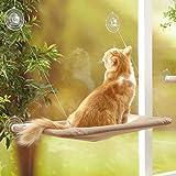 YIQI Hamac de Chat monté sur la fenêtre pour la Perche du Chat, lit Suspendu pour Animal de Compagnie à...