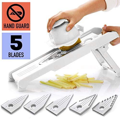 Mandoline Slicer w/ 5 Adjustable Blades - Vegetable Slicer -...