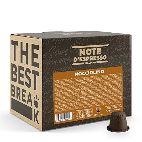 Note d'Espresso Italiano - Cápsulas Sistema Nespresso, compatibles con cafeteras Nespresso, de Bebida Instantánea de Avellana, 100 Unidades de 7g, Total 700 g