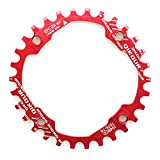 FOMTOR 30T Chainring 104 BCD Narrow Wide Chainring with Four Chainring Bolts for Road Bike, Mountain Bike, BMX MTB Fixie Bicycle (Red)